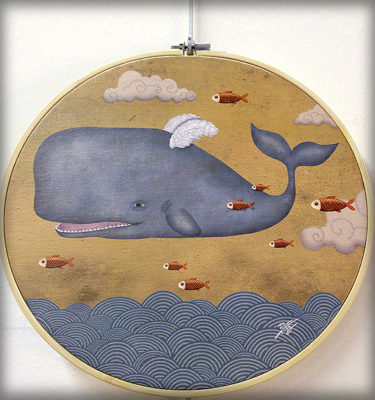 decoración bebé infantil regalo dibujo arte diseño cine amor niños vintage ropa venta digital cuadro ilustración original bastidor lienzo mar pez peces