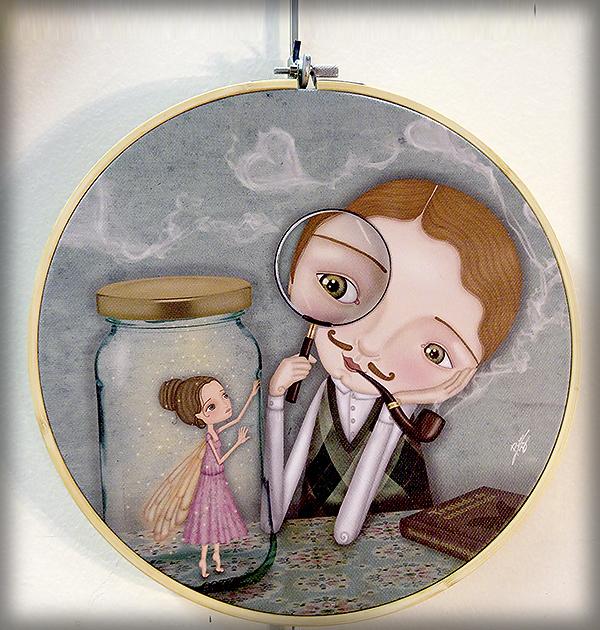 decoración bebé infantil regalo dibujo arte diseño cine amor niños vintage ropa venta digital cuadro ilustración original amor hada pareja corazón