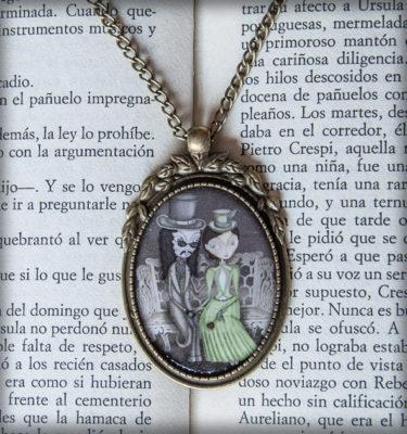 decoración bebé infantil regalo dibujo arte diseño cine amor niños vintage ropa venta digital cuadro colgante amor inmortal drácula mina gótico original ilustrado