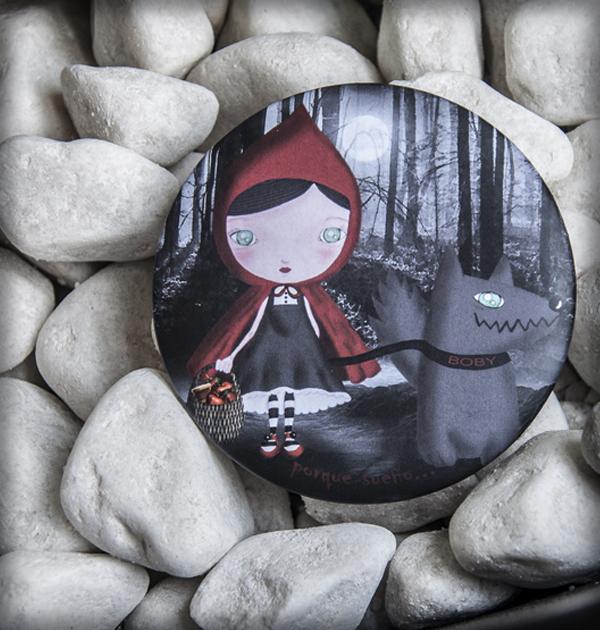 decoración bebé infantil regalo dibujo arte diseño cine amor niños vintage ropa venta digital cuadro espejo caperucita feroz lobo mascota cuento original ilustrado