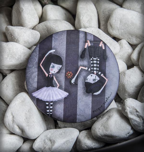 decoración bebé infantil regalo dibujo arte diseño cine amor niños vintage ropa venta digital cuadro espejo mimos flor amor romántico naif bailarina trapecista original ilustrado