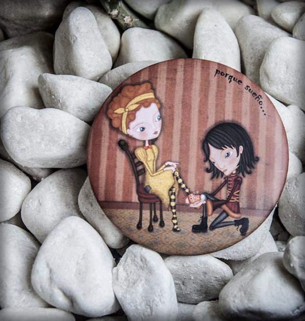 decoración bebé infantil regalo dibujo arte diseño cine amor niños vintage ropa venta digital cuadro espejo cenicienta princesa principe cuento amor naif original ilustrado