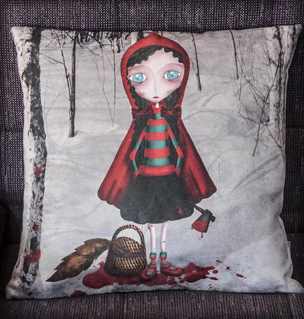 decoración bebé infantil regalo dibujo arte diseño cine amor niños vintage ropa venta digital cuadro sangre gore lobo hacha original ilustrada
