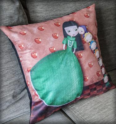 decoración bebé infantil regalo dibujo arte diseño cine amor niños vintage ropa venta digital cuadro blancanieves enanitos cuento princesa naif original ilustrada
