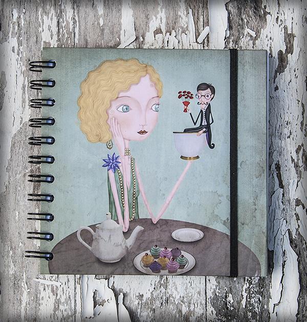 decoración bebé infantil regalo dibujo arte diseño cine amor niños vintage ropa venta digital cuadro libreta cita tea time amor naif original ilustrada