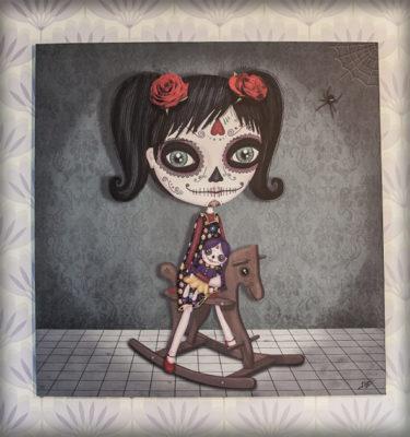 decoración bebé infantil regalo dibujo arte diseño cine amor niños vintage ropa venta digital cuadro ilustración original méxico calavera