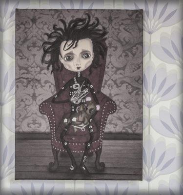 decoración bebé infantil regalo dibujo arte diseño cine amor niños vintage ropa venta digital cuadro Ilustración original gótico naif cine