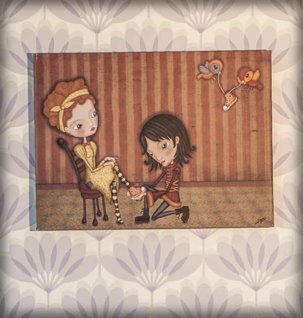 decoración bebé infantil regalo dibujo arte diseño cine amor niños vintage ropa venta digital cuadro ilustración original cenicienta princesa principe cuento