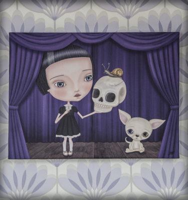 decoración bebé infantil regalo dibujo arte diseño cine amor niños vintage ropa venta digital cuadro ilustración original hamlet shakespeare calavera caracol perro teatro niña gótico naif chihuahua