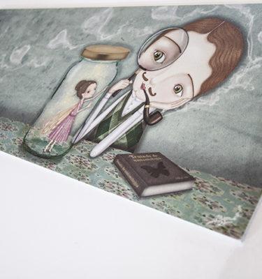 decoración bebé infantil regalo dibujo arte diseño cine amor niños vintage ropa venta digital cuadro ilustración original amor pareja hada corazón