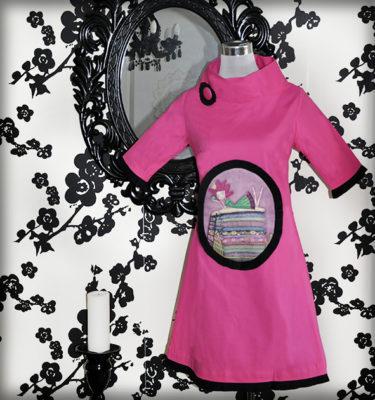 decoración bebé infantil regalo dibujo arte diseño cine amor niños vintage ropa venta digital cuadro vestido fucsia princesa guisante cuento original ilustrado