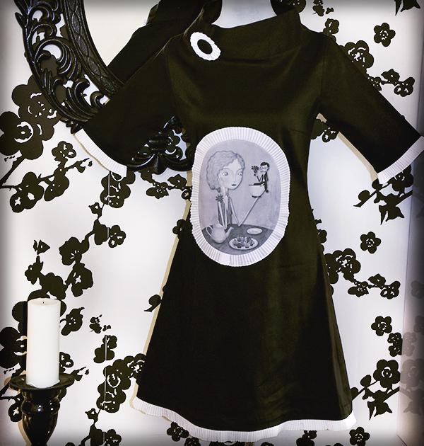 decoración bebé infantil regalo dibujo arte diseño cine amor niños vintage ropa venta digital cuadro vestido tea time b&n original ilustrado