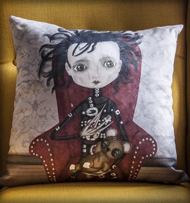 decoración bebé infantil regalo dibujo arte diseño cine amor niños vintage ropa venta digital cuadro ilustración original tim burton película film gótico naif