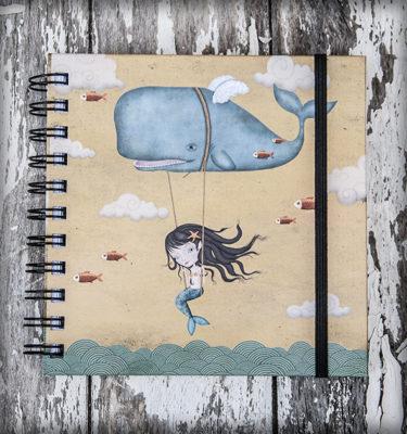 decoración bebé infantil regalo dibujo arte diseño cine amor niños vintage ropa venta digital cuadro ilustración original ballena mar océano nubes alas naif sirena