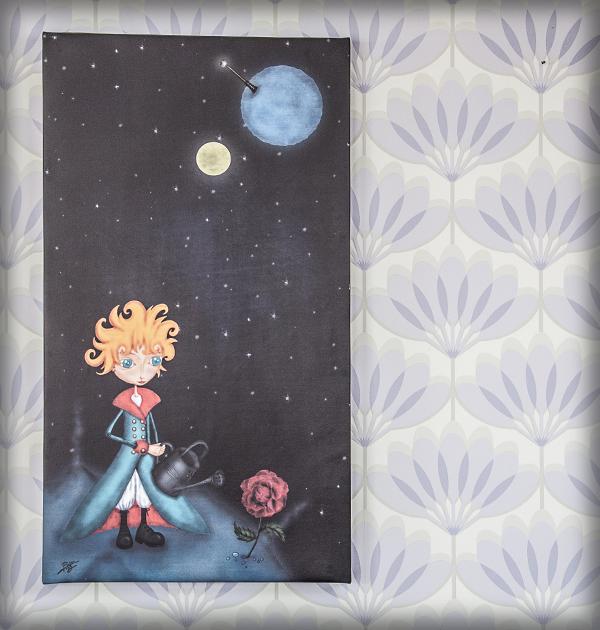 decoración bebé infantil regalo dibujo arte diseño cine amor niños vintage ropa venta digital cuadro ilustración original principe cuento libro planeta cosmos rosa