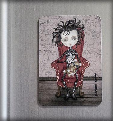ilustración original decoración bebé infantil regalo dibujo arte diseño cine niños vintage ropa venta digital cuadro nevera gótico steampunk tim burton