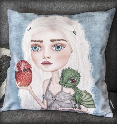 ilustración original decoración regalo dibujo arte diseño venta juego de tronos daenerys targaryen dragones dragon