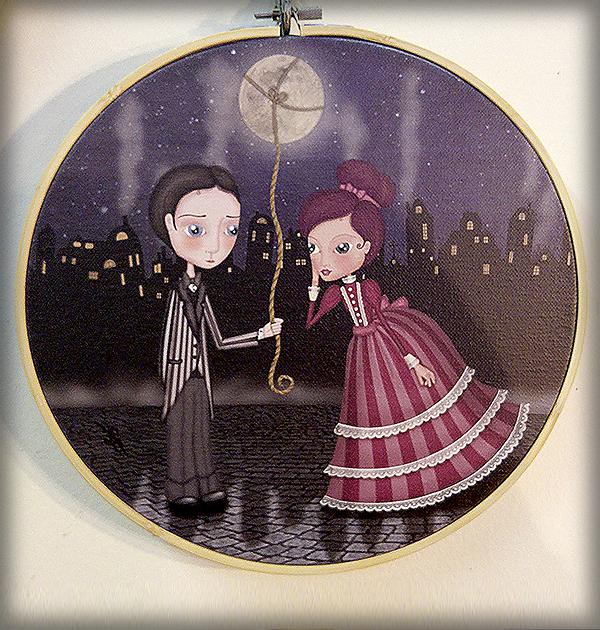 decoración bebé infantil regalo dibujo arte diseño cine amor niños vintage ropa venta digital cuadro pareja amor ilustración original ciudad