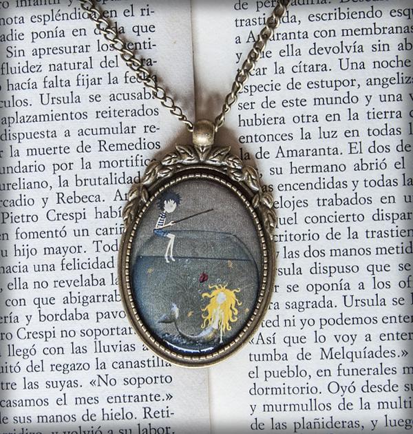 decoración bebé infantil regalo dibujo arte diseño cine amor niños vintage ropa venta digital cuadro colgante cebo corazón sirena pecera pescador peces romántico original ilustrado
