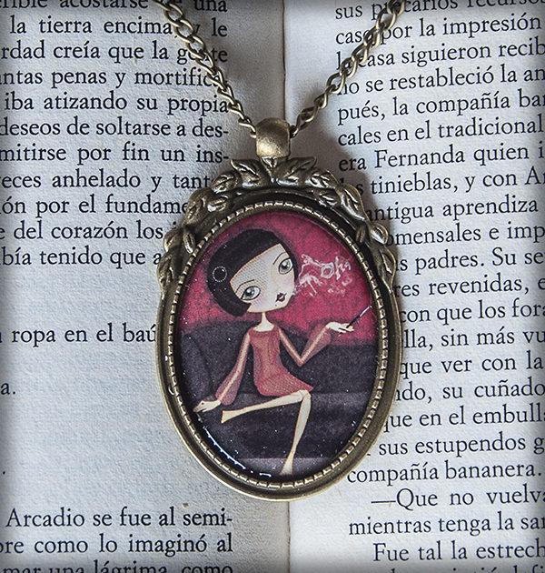 decoración bebé infantil regalo dibujo arte diseño cine amor niños vintage ropa venta digital cuadro colgante madame ohlala francés cigarro original ilustrado