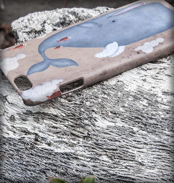decoración bebé infantil regalo dibujo arte diseño cine amor niños vintage ropa venta digital cuadro original ilustrada ballena volar pez nube