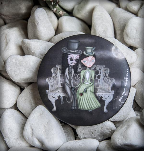 decoración bebé infantil regalo dibujo arte diseño cine amor niños vintage ropa venta digital cuadro espejo amor inmortal drácula mina gótico luna cementerio original ilustrado