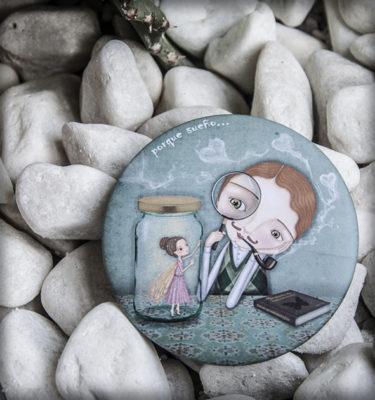 decoración bebé infantil regalo dibujo arte diseño cine amor niños vintage ropa venta digital cuadro espejo amor hada romántico naif original ilustrado