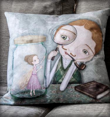 decoración bebé infantil regalo dibujo arte diseño cine amor niños vintage ropa venta digital cuadro amor naif hada lupa pipa original ilustrada