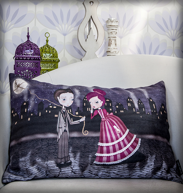 decoración bebé infantil regalo dibujo arte diseño cine amor niños vintage ropa venta digital cuadro regalo luna amor pareja romántico naif original ilustrada