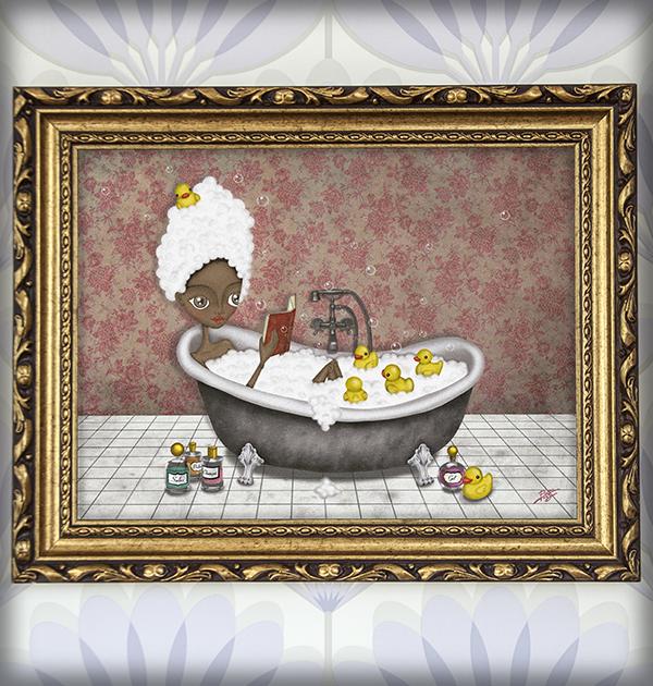 decoración bebé infantil regalo dibujo arte diseño cine amor niños vintage ropa venta digital cuadro ilustración original patito feo bañera baño goma naif