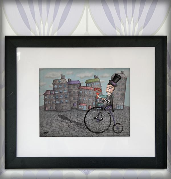 decoración bebé infantil regalo dibujo arte diseño cine amor niños vintage ropa venta digital cuadro ilustración original caballero bicicleta flores ciudad naif