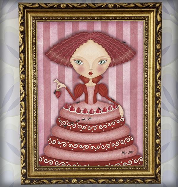 decoración bebé infantil regalo dibujo arte diseño cine amor niños vintage ropa venta digital cuadro ilustración original hormiga tarta naif