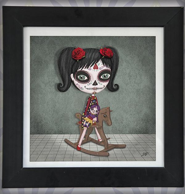 decoración bebé infantil regalo dibujo arte diseño cine amor niños vintage ropa venta digital cuadro ilustración original calavera méxico naif niña