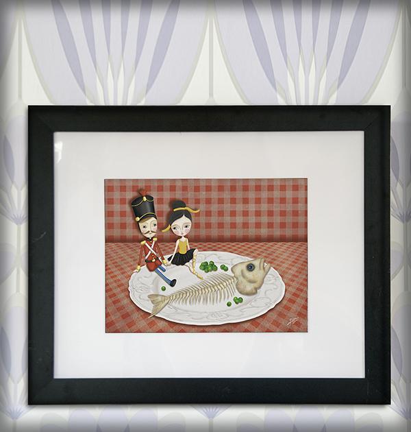 decoración bebé infantil regalo dibujo arte diseño cine amor niños vintage ropa venta digital cuadro ilustración original soldadito plomo bailarina