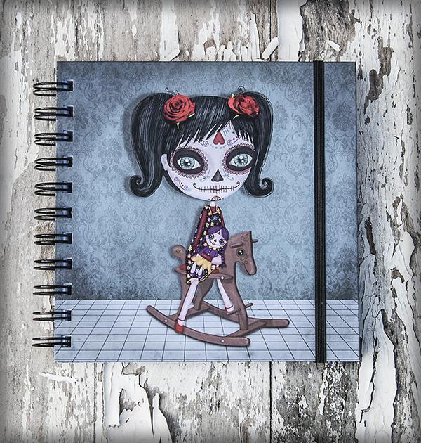 decoración bebé infantil regalo dibujo arte diseño cine amor niños vintage ropa venta digital cuadro libreta katrina naif calavera méxico original ilustrada