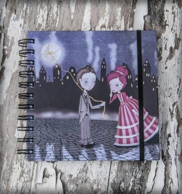 decoración bebé infantil regalo dibujo arte diseño cine amor niños vintage ropa venta digital cuadro libreta regalo luna naif amor pareja romántico original ilustrada