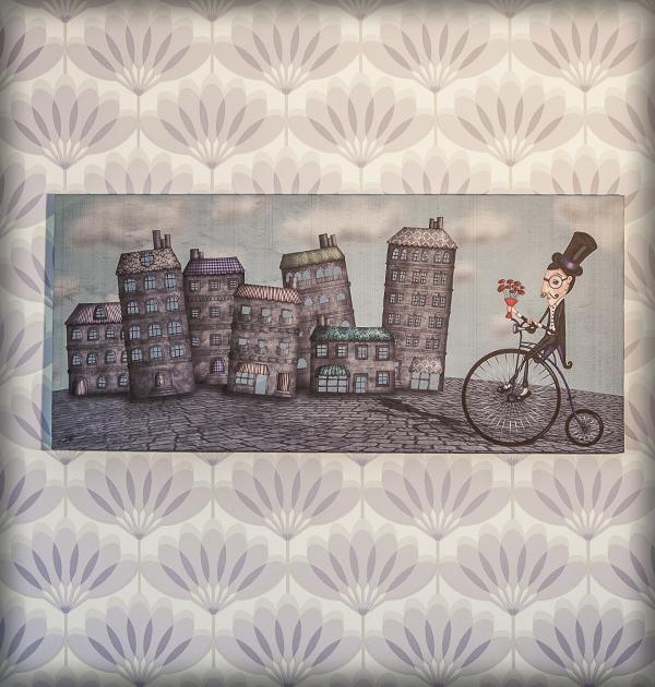 decoración bebé infantil regalo dibujo arte diseño cine amor niños vintage ropa venta digital cuadro ilustración original ciudad caballero amor bicicleta flores