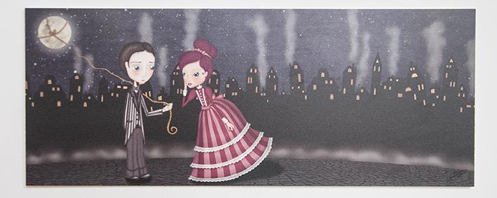 decoración bebé infantil regalo dibujo arte diseño cine amor niños vintage ropa venta digital cuadro ilustración original pareja noche ciudad amor romántico