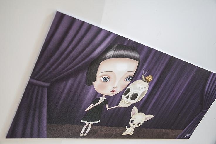 decoración bebé infantil regalo dibujo arte diseño cine amor niños vintage ropa venta digital cuadro ilustración original hamlet shakespeare calavera niña caracol perro gótico teatro naif