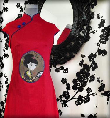 decoración bebé infantil regalo dibujo arte diseño cine amor niños vintage ropa venta digital cuadro vestido geisha japón oriental naif original ilustrado
