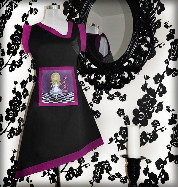decoración bebé infantil regalo dibujo arte diseño cine amor niños vintage ropa venta digital cuadro vestido malicia alicia maravillas gato cuento naif original ilustrado