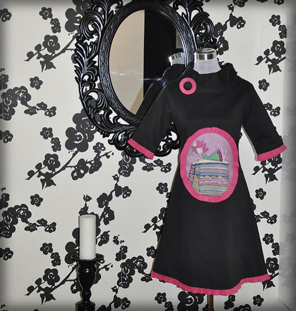 decoración bebé infantil regalo dibujo arte diseño cine amor niños vintage ropa venta digital cuadro vestido negro princesa guisante cuento original ilustrado