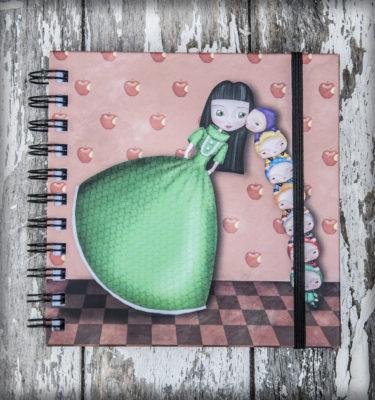 decoración bebé infantil regalo dibujo arte diseño cine amor niños vintage ropa venta digital cuadro ilustración original blancanieves enanitos naif cuento princesa manzana