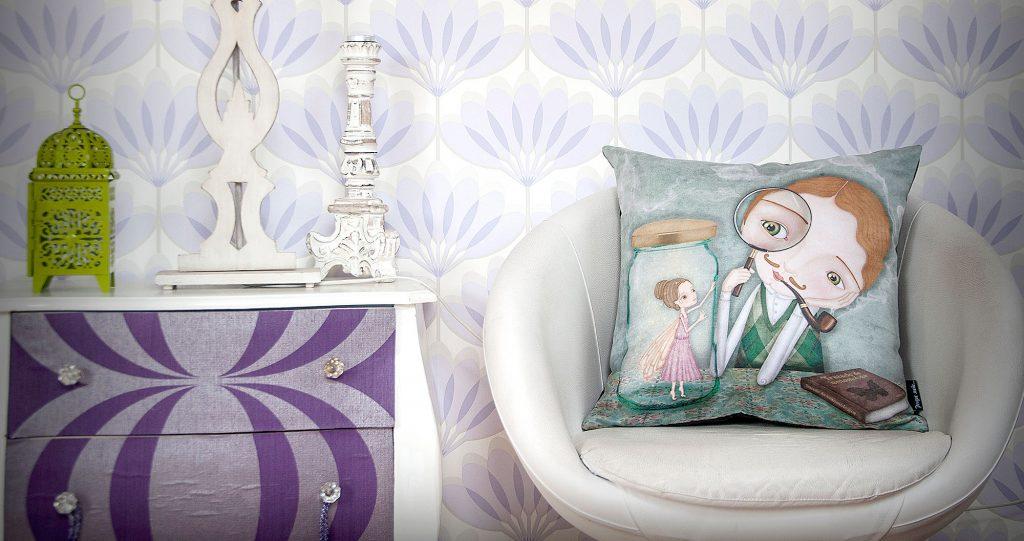 ilustración original funda cojín jetaime decoración bebé infantil regalo dibujo arte diseño cine amor niños vintage ropa venta digital cuadro