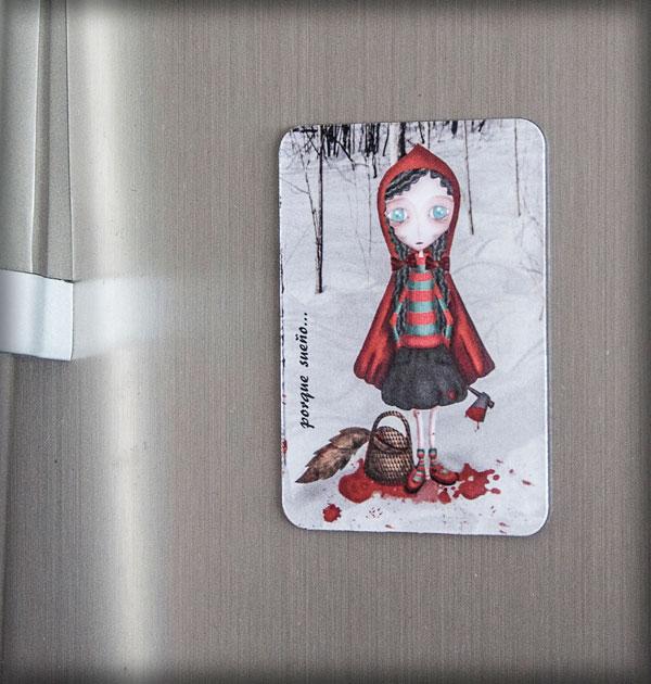 ilustración original decoración bebé infantil regalo dibujo arte diseño cine niños vintage ropa venta digital cuadro cuento clásico roja lobo nevera