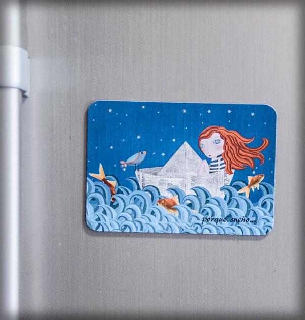 ilustración original decoración bebé infantil regalo dibujo arte diseño cine peces niños vintage ropa venta digital cuadro mar nevera pelirroja pájaro